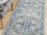 Gray and Blue Runner Rug Babylon 207 Blue Runner Rug