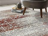"""Gray and Maroon area Rugs Artemis Collection Vintage oriental area Rug 1006a Burgundy 5 2"""" X 7 6"""""""