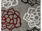 Gray and Maroon area Rugs Newport Collection Gray Burgundy Floral Medallion Modern area Rug Walmart