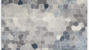 Gray and Navy Blue area Rug Capodanno Geometric Navy Gray area Rug