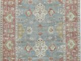 Gray and Rust area Rug oriental Hand Knotted Wool Gray Rust area Rug
