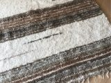 Gray and White Striped area Rug Cotton Striped Rug Handwoven area Bohemian Rug