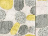 "Gray and Yellow Bathroom Rug Sets Chesapeake Pebbles Bath Rug Set 21""x34"" & 24""x40"" New Willow"