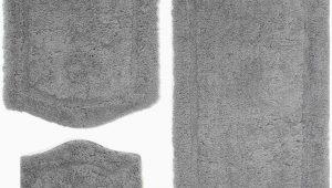 Gray Bath Rug Set Joni Rectangle Non Slip Piece Bath Rug Set