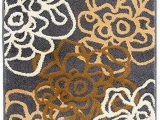 Gray Brown and White area Rug Floral Gray Grey Brown White area Rug – Modern Rugs and Decor
