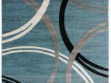 Gray White Blue area Rug Neal Abstract Blue area Rug