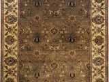 Green and Gold area Rugs Moghul Hand Knotted Wool Light Green Gold area Rug