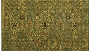 Green and Gold area Rugs Nourison Timeless Tml11 Green Gold area Rug Clearance
