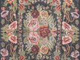 Green and Pink area Rugs Chiu Floral Black Green Pink area Rug