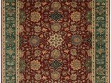 Green and Red area Rugs Ava Hand Knotted Wool Green Red Cream area Rug