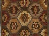 Green and Tan area Rugs Rizzy Home Collection Wool area Rug 8 X 10 Multi Tan Khaki Olive Green Dark Rust Camel southwest Tribal