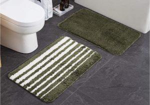 "Green Bath Rug Sets Bathroom Rug Mat 20""x 32"" Green Set Of 2 Pack Bath Mat Rug Non Slip Door Mat for Entryway Arm Green"