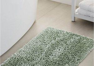 Green Bath Rug Sets Bouclé Chenille Bath Mat 50 X 80 Cm solid Kelly Green