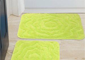 Green Bath Rug Sets Saral Home Set Of 2 Green Bath Rug & Contour