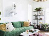 Green Couch Blue Rug 30 Lush Green Velvet sofas In Cozy Living Rooms