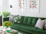 Green Couch Blue Rug the Couch Trend for 2017 Stylish Emerald Green sofas