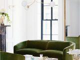 Green Couch Blue Rug Tufted Ari Rug Living Room Decor Living Room Diy Living