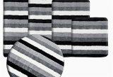 Grey and Black Bathroom Rugs Casa Pura Bath Mat Bath Rug Leon soft Pile Non Slip