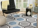 """Grey and White area Rug 5×7 Rio Summit 313 Grey Blue White area Rug Modern Geometric Many Sizes Available 7 4"""" X 6"""" 7 4"""" X 10 6"""""""