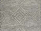 Grey and White area Rug 9×12 Rizzy Home Idyllic Collection Wool area Rug 9 X 12 Gray Gray Rust Blue solid