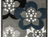 Grey and White area Rug Walmart Newport Collection Gray White Navy Blue Floral Modern area Rug