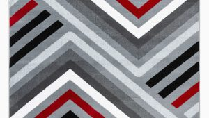 Grey and White area Rug Walmart Summit Collection Abstract Gray Red Black and White area Rug Walmart