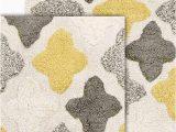 "Grey and Yellow Bath Rug Chesapeake Merchandising Inc Alloy 2 Piece Bath Rug Set 21"" X 34 & 17"" X 24"" Willow"