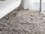 Grey area Rug for Bedroom Premium Greek Flokati Natural Gray Rug