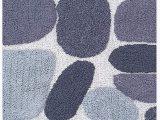 "Grey Bathroom Rug Runner Pebble Stone Bath Runner Antiskid 24""x60"" soft & Absorbent Bathroom Rugs Non Slip Bath Rug Runner for Kitchen Bathroom Floors Grey Charcoal"