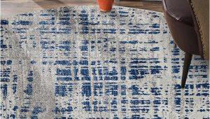 Grey Blue Round Rug ashley Abstract Modern Blue Grey Round Rug