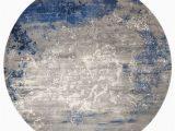 Grey Blue Round Rug Twilight Twi22 Blue Grey Round Rug Modern Rugs