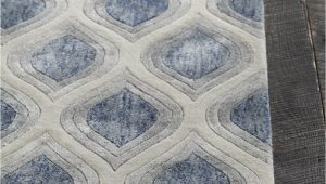 Grey White and Blue Rug Clara Collection Hand Tufted area Rug In Blue Grey White