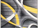 Grey Yellow White area Rug Gaeta Abstract Multi Colored area Rug