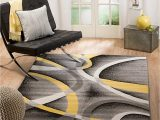 Grey Yellow White area Rug Summit 21 New Yellow Grey area Rug Modern Abstract Many Sizes Available 4 10 X 7 2