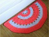 Half Moon Bathroom Rugs Crochet Half Circle Cotton Rug Half Moon Rug Kids Room Nursery Kitchen or Bathroom