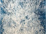 """Hand Knotted Blue Rugs Abstract Hand Knotted area Rug8 2"""" X 10 2"""""""