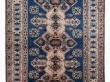 """Hand Knotted Blue Rugs Beige Blue New Hand Knotted Anatolian Rug 4 9"""" X 7 2"""" 57 In X 86 In"""