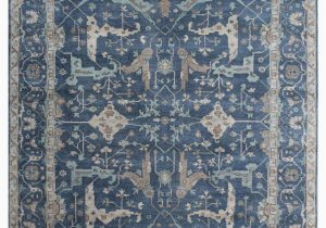 Hand Knotted Blue Rugs Exquisite Rugs Oushak Hand Knotted 3422 Blue area Rug
