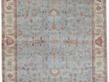 Hand Knotted Blue Rugs Exquisite Rugs Serapi Hand Knotted 3335 Light Blue Ivory area Rug