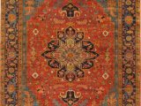 Hand Knotted Blue Rugs Hand Knotted Wool orange Blue Rug