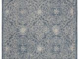 Hand Tufted Blue Wool Rug Etienne Hand Tufted Wool Blue Ivory area Rug
