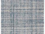Harris Blue Micro Hooked Wool Rug Harris Blue Ivory Micro Hooked Wool Rug