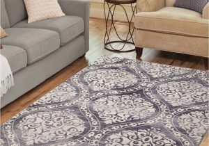 Home and Garden area Rugs Gray Distressed Ogee area Rug 5 X7