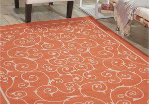 Home and Garden area Rugs Nourison Home & Garden Rs019 orange area Rug