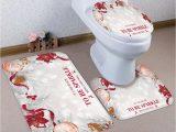 Home and Garden Bath Rugs Home & Garden Bath Bathroom Mats Set 3pcs Father Christmas