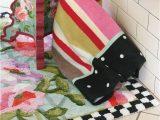 Home and Garden Bath Rugs Mackenzie Childs Chelsea Garden Bath Rug