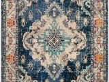 Home Depot area Rugs 8 by 10 Monaco Moses Navy Light Blue 8 Ft X 10 Ft Indoor area