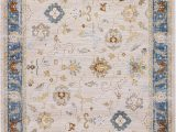 Home Goods area Rugs 5×7 Pierre Cardin Home Lagoon Collection oriental Traditional Vintage Design Abstract area Rugs for Living Room Carpets 5 X 8 Cream Blue