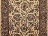 Home Goods area Rugs 5×8 Floral Agra oriental area Rug Hand Tufted Ivory Wool Foyer Carpet 5×8 Walmart