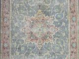 Home Goods area Rugs 7×9 Distressed Hand Knotted Vintage Persian Rug 201 X 295 Cm